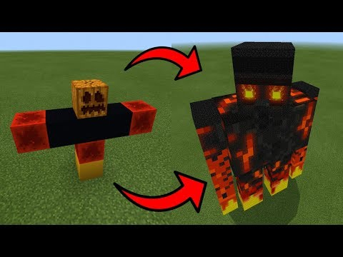 How To Spawn a GIANT MAGMA GOLEM in Minecraft PE