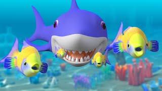 Baby Shark Song Challenge + More Nursery Rhymes & Kids Songs | Sharks Cartoon