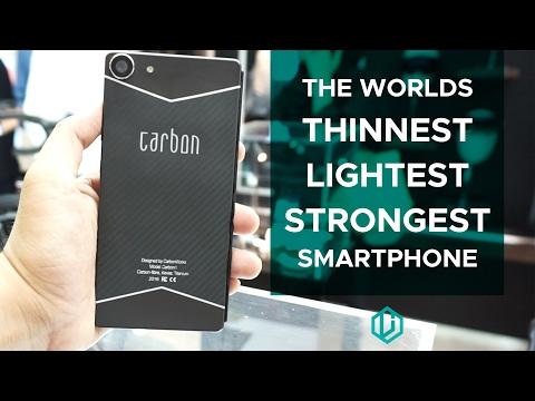 Thinnest, Lightest, Strongest Smartphone Ever!  - Carbon