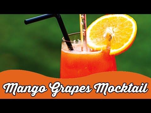 Mango Grapes Mocktail | Tasty Summer Drinks