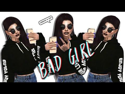 SIMS 4 CAS | BAD GIRL + CC LIST