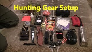 Hunting Gear Setup - for all day in the field hunting and filming