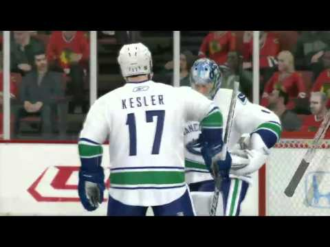 NHL 11 First Round Playoff Sim- Vancouver vs. Chicago