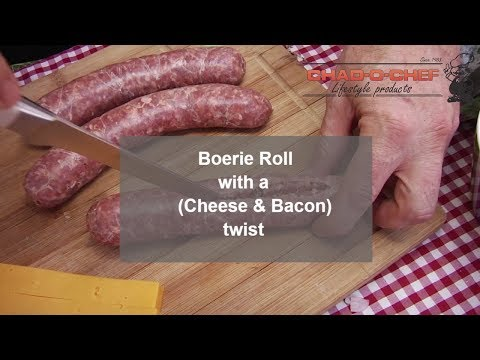 A Boerie (Boerewors) Roll with a twist (of bacon)... and cheese - A BraaiBoy TV Recipe