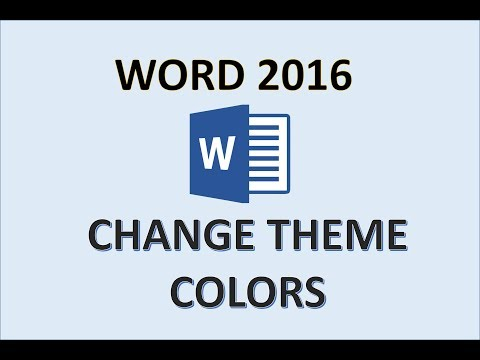 Word 2016 - Change Theme Colors - How To Customize Color Themes in the Background of Document on PC