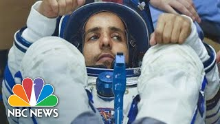 Russian Soyuz Rocket Launches First Astronaut From UAE To International Space Station   NBC News