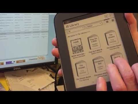 Loading an Overdrive ePub or PDF book to a Nook