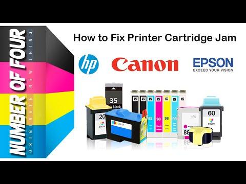 How to Fix Printer Cartridge Jam/How to Fix Canon Inkjet Cartridge /How to Fix HP Deskjet Cartridge