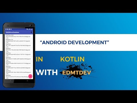 Kotlin Android Tutorial -  Databases with Room Persistence