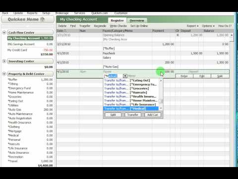Using Quicken with a zero-based budget overview