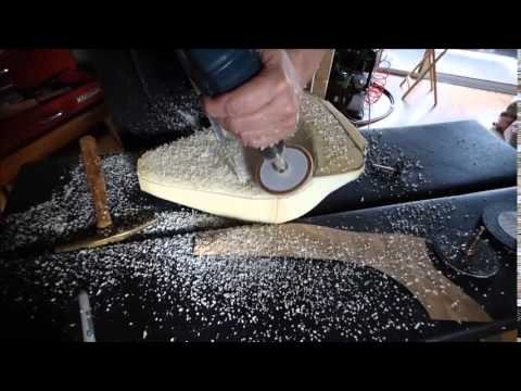 How to sand and shape foam rubber and make a motorcyle saddle seat
