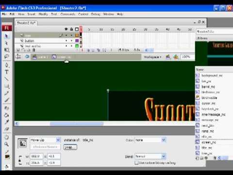 Flash Shooter Game 4 - Actionscript 2.0
