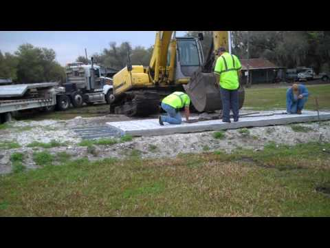 Loading Pre-Cast Submerged Boat Ramp Built By Cray Marine!