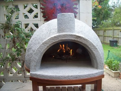 Pizza Oven Easy Build,  First Firing