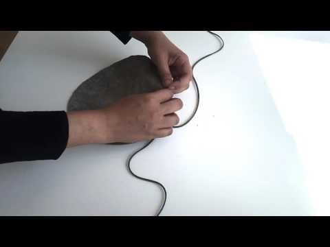 DIY Leather drawstring pouch