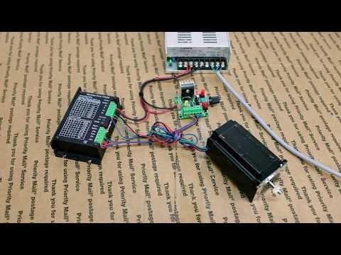 Controlling a stepper motor through a signal generator
