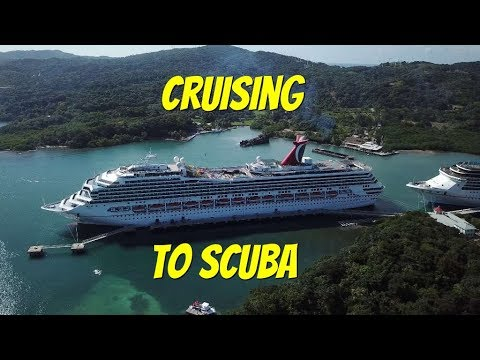 Going Cruising to get to Scuba Dive 3 different Caribbean Islands.  Cayman, Roatan, Belize. Ep118