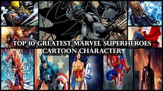 Download Top 10 Greatest Marvel Superheroes Cartoon Character Video