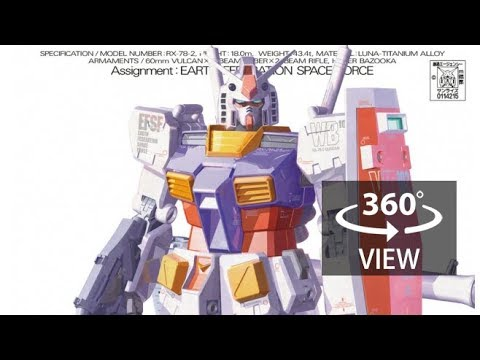 [360°Degree] MG 1/100 Gundam RX-78 ver. ka