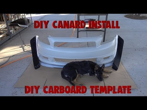 DIY Splitter Template+Bumper Canards!!!