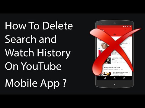 How To Delete Search and Watch History On YouTube Mobile App ?