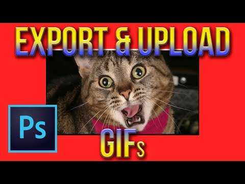 How to create, export, and upload a GIF tutorial | Photoshop CC 2017