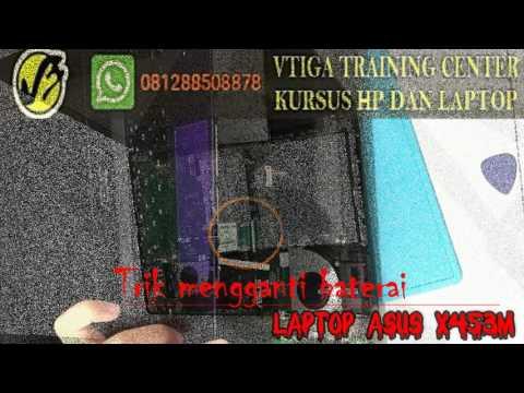 Trik mengganti baterai Laptop Asus X453MA-WX329D