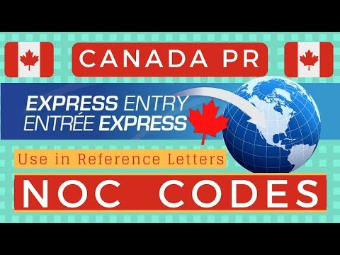 NOC codes for Express Entry 2018 (Canada PR)