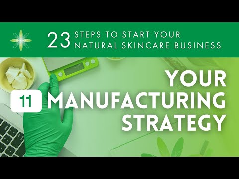 Start Your Own Natural & Organic Skincare Business - Step 11: Your Manufacturing Strategy