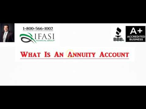 Annuity Account - What is an Annuity Account