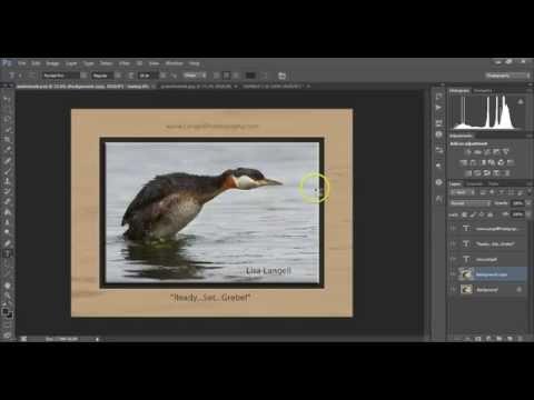 Use Photoshop to put a digital frame (mat) around your photos