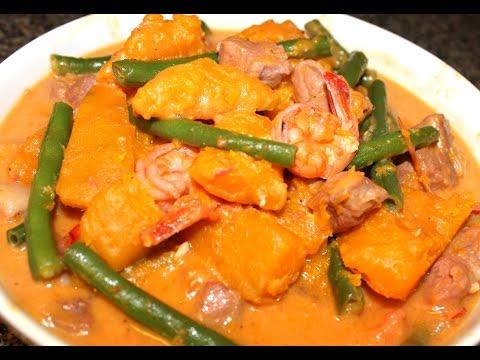Ginataang Kalabasa at Sitaw (with Shrimp & Pork)