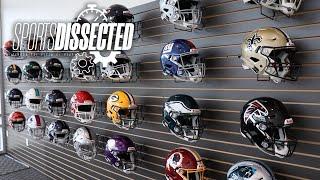 How a FOOTBALL HELMET is MADE at Riddell HQ   Sports Dissected