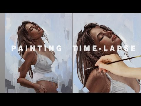 PAINTING TIME-LAPSE || 'Glow' Oil on canvas