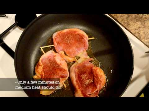Best Bacon-Wrapped Pork w/ Pear Glaze Recipe