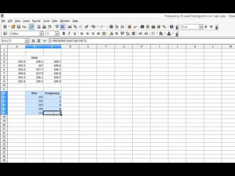 Frequency Function and Histograms on OpenOffice.org Calc