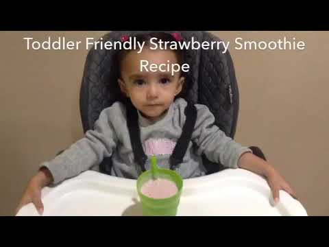 Toddler Friendly Strawberry Smoothie Recipe PICKY TODDLER EATS sneak in fruit and milk