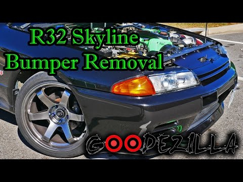 R32 Skyline Front Bumper Removal