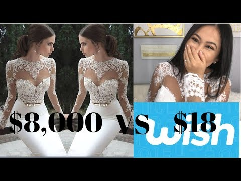 $18 Wedding Dress From Wish: What I got (Org Price $8,000)