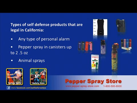 California State Pepper Spray Laws  - What's Legal?