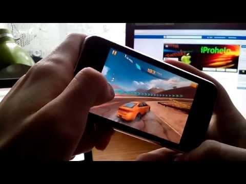 Gyroscope games on iPhone 3GS (Asphalt 8)