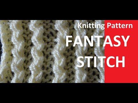 Knitting Pattern * FANTASY STITCH *