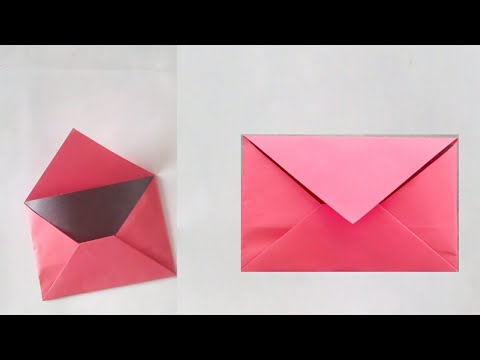 How to make Origami paper envelope without glue & scissor,create Envelope Greeting card cover athome