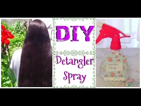 DIY Leave in Detangler spray for dry natural hair how to get rid of knots tangles hair treatment