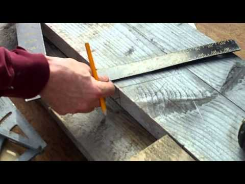 roof marking and cutting a hip rafter