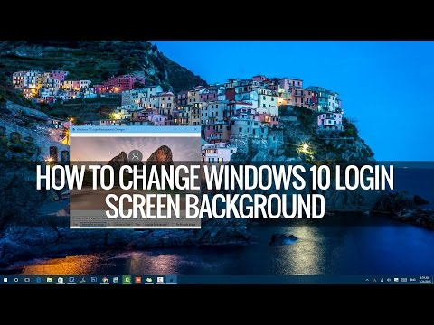 How to Change Windows 10 Login Screen Background | Techniqued