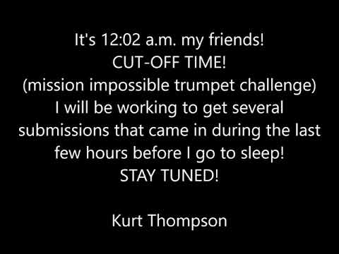 CUT-OFF notice mission impossible trumpet challenge