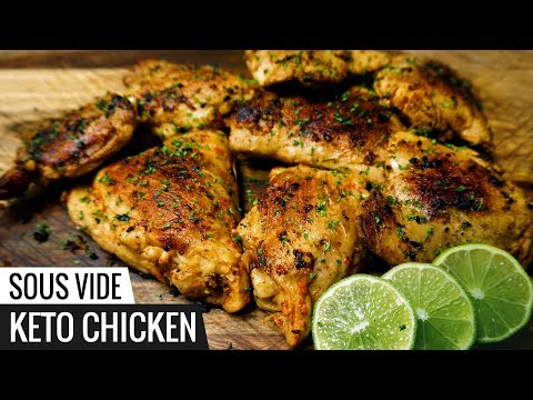 Sous VIDE KETO CHICKEN Recipe - LOW CARB Chicken and Very Flavorful!
