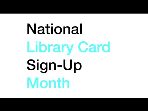 NJ libraries: Get ready for Library Card Signup Month Sept. 2016!
