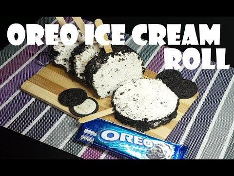 Oreo Ice Cream Roll   how to make Oreo Ice Cream Roll   Oreo ice cream recipe